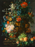 Jan van Huysum: Still Life with Flowers and Fruit (1)