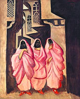 Jāzeps Grosvalds: Three Women on the Street of Baghdad
