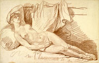 "Reclining Female Nude: Study for ""Aegina visited by Jupiter"""