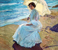 Joaquín Sorolla: Clotilde on the Beach