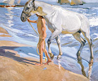 Joaquín Sorolla: The Horse's Bath