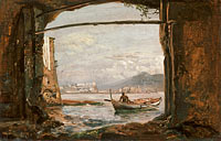 Johan Christian Dahl: View from a grotto near Posillipo