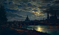 View of Dresden by Moonlight (2)
