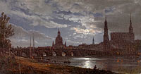 View of Dresden by Moonlight (1)