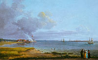 Йохан Кристиан Даль: View over Øresund near the Lime Works