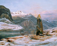 Johan Christian Dahl: Winter at the Sognefjord