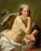Йохан Джозеф Цоффани: Self-portrait as David with the head of Goliath