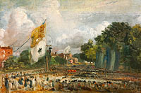 The Celebration in East Bergholt of the Peace of 1814 Concluded in Paris between France and the Allied Powers