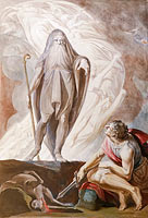 Генри Фюзели: Teiresias Foretells the Future to Odysseus, 1780-1785