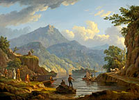 John Knox: Landscape with Tourists at Loch Katrine