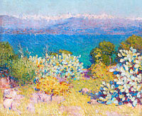 John Peter Russell: In the morning, Alpes Maritimes from Antibes