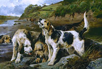 "John Sargent Noble: Otter Hunting (""On the Scent"")"