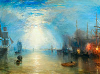 Joseph Mallord William Turner: Keelmen Heaving in Coals by Moonlight