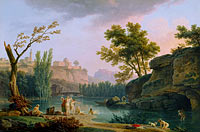 Claude-Joseph Vernet: Summer Evening, Landscape in Italy
