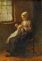 Jozef Israëls: The young seamstress