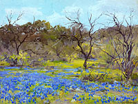 Julian Onderdonk: Early Spring—Bluebonnets and Mesquite