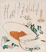 Myriad grasses shell (Chigusagai) - from the series 'A shell-matching game with Genroku thirty-six l...