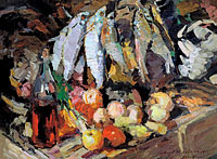 Konstantin Korovin: Fishes, wine, fruit