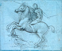 Study for an equestrian monument (recto)