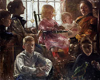 The Family of the Painter Fritz Rumpf