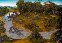 Лукас Кранах Старший: The Stag Hunt of the Elector Frederic the Wise (1463-1525) of Saxony