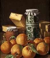 Луис Эджидио Мелендес: Still Life with Oranges, Jars, and Boxes of Sweets