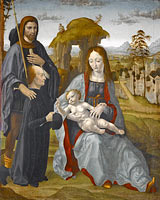 Madonna and Child with Saint and a Donor