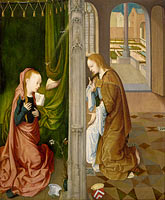 Unknown Painter (Master of the Virgin Among Virgins, Virgo inter Virgines): The Annunciation