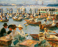 Max Liebermann: On the Alster in Hamburg
