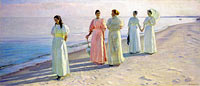 Michael Ancher: A stroll on the beach