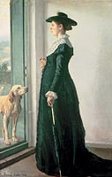 Michael Ancher: Portrait of my wife. The painter Anna Ancher