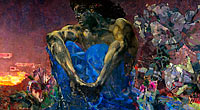 Mikhail Vrubel: Demon (sitting)