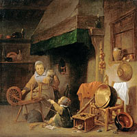 Pieter Nys: Woman Spinning