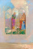 Odilon Redon: Devotion near a red bush