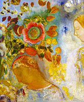 Odilon Redon: Two Young Girls among Flowers