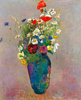 Odilon Redon: Vision: vase of flowers
