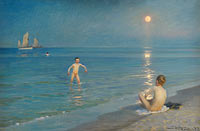 P. S. Krøyer: Boys Bathing at Skagen. Summer Evening