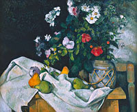 Paul Cézanne: Still Life with Flowers and Fruit