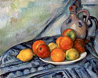Paul Cézanne: Fruit and a Jug on a Table