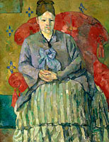 Madame Cézanne in a Red Armchair