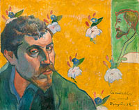 Paul Gauguin: Self-portrait with portrait of Bernard, 'Les Misérables'