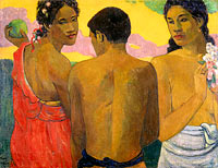 Paul Gauguin: Three Tahitians