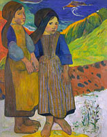 Paul Gauguin: Two Breton Girls by the Sea