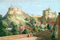 Пол Сэндби: Windsor Castle: The Round Tower, Royal Court and Devil's Tower from the Black Rod