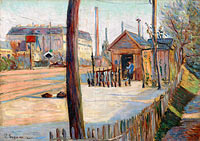 Paul Signac: Railway junction near Bois-Colombes