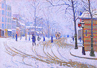 Paul Signac: Snow, Boulevard de Clichy, Paris