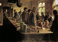 Peder Severin Krøyer: A the victualler's when there is no fishing