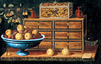Педро де Кампробин: Writing Desk with a small Chest and a Fruit Bowl (2)