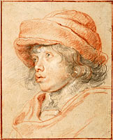 Rubens's Son Nicolaas Wearing a Red Felt Cap, 1625-1627