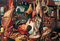 Питер Арстен: Still Life with Meat and the Holy Family